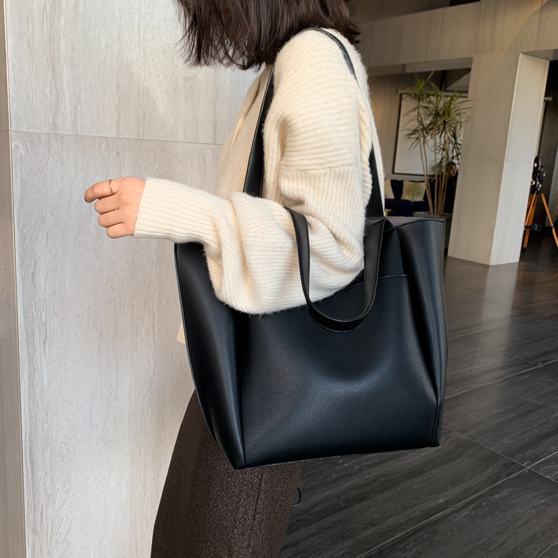 Hot sale large women's bag large capacity shoulder bags high quality PU leather shoulder bags ladies wild bags sac a main femme