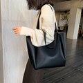 Большая женская сумка, вместительные сумки на плечо, натуральные дамские сумочки на ремне из высококачественной искусственной кожи