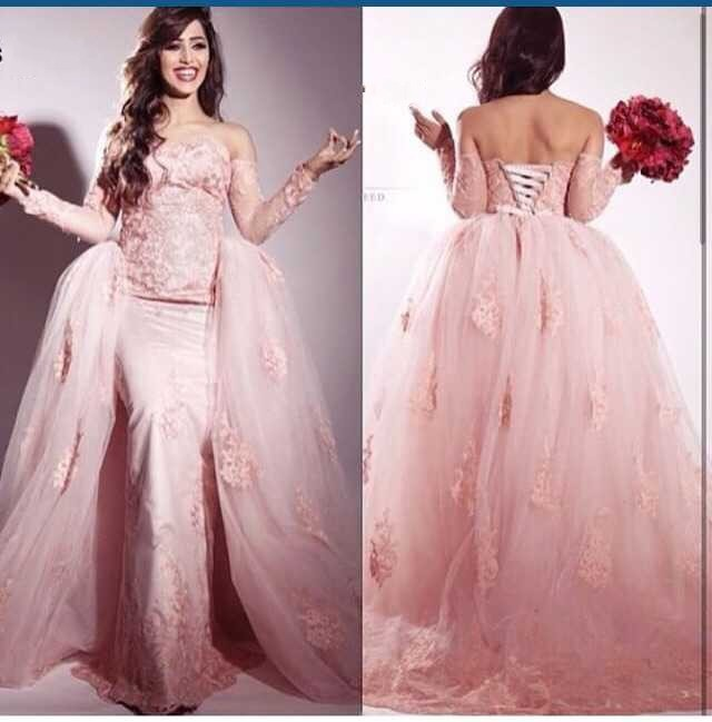 New Arrive Sweetheart Off Shoulder Long Sleeves 2018 Ball Gown Appliqued Lace Vestido De Noiva Mother Of The Bride Dresses