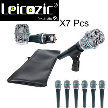 Leicozic-micrófono Vocal supercardioide, condensador de micrófono, microfono profesional, 7 uds., Beta 87a