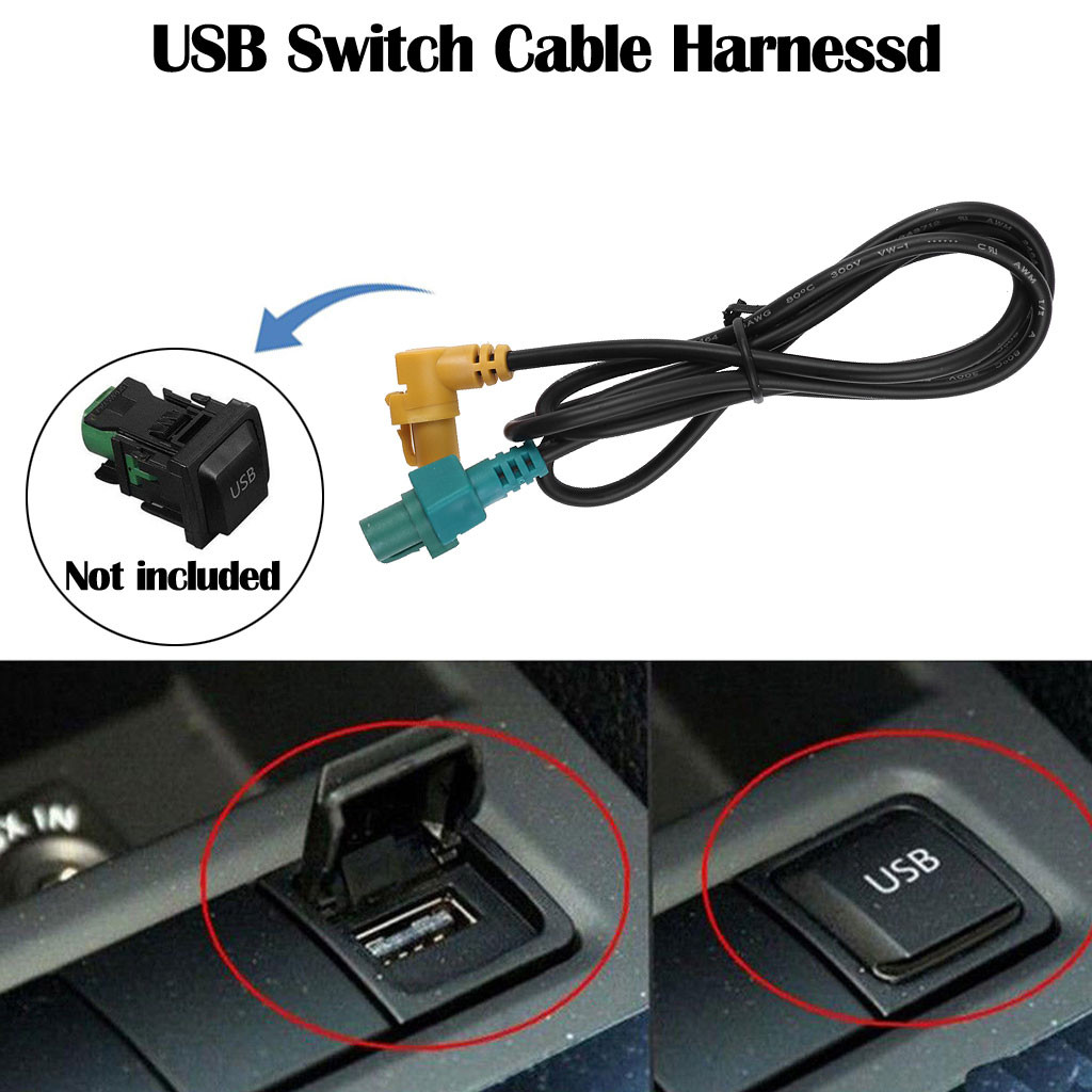Switch Wiring Harness Brand New Quality USB Switch Cable Harnessd Fit For Volkswagen 2005-2013 Jetta MK5 MK6 Golf MK6 Passat(China)