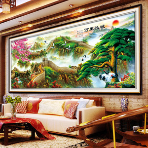 Image 4 - Meian 5D Diamond Painting Full Drill Diamond Embroidery Great Wall Home Decoration DIY broderie diamant New 2019 Crafts AB Beads
