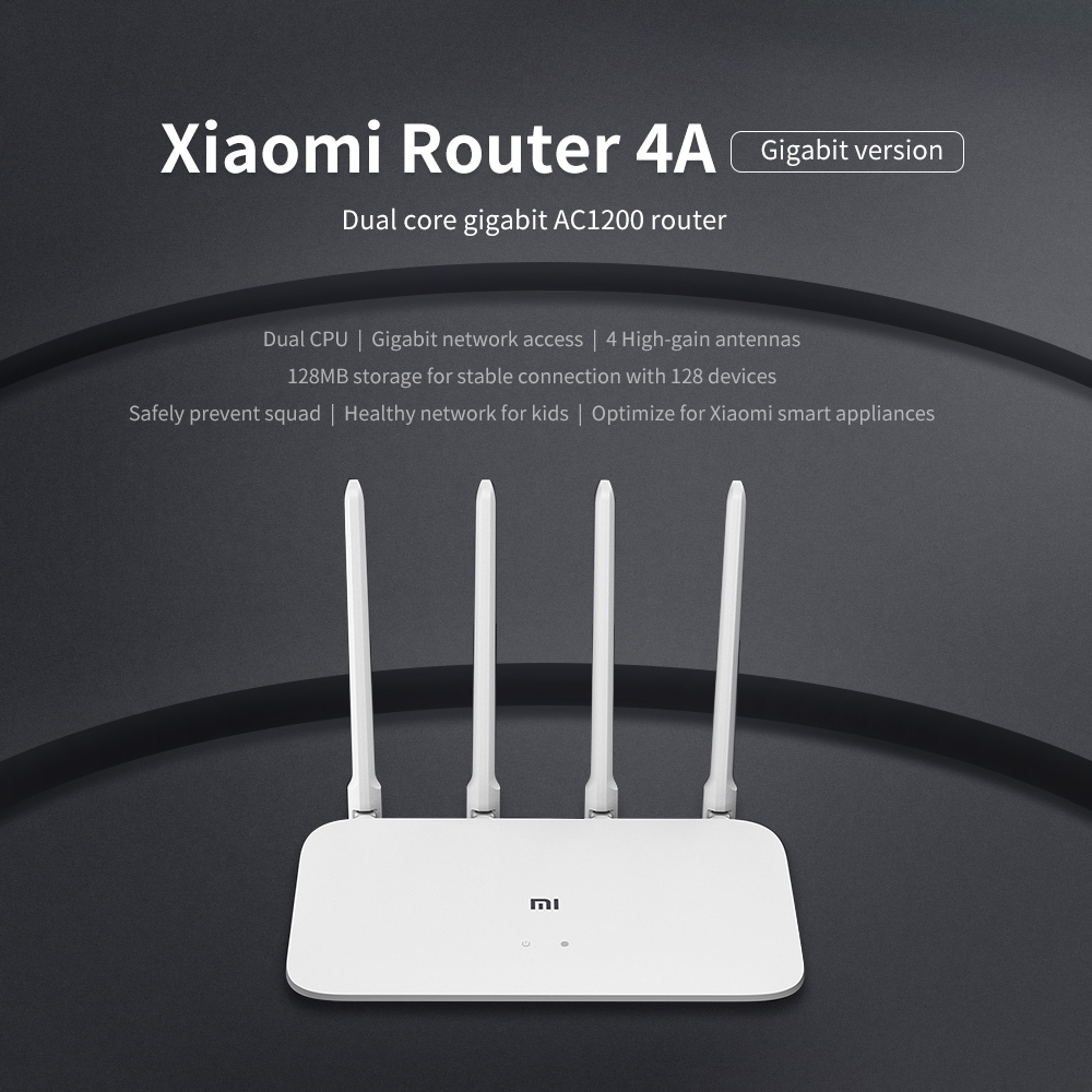Xiaomi Mi Router 4A Gigabit Version 2.4GHz 5GHz WiFi 1167Mbps WiFi Repeater 128MB DDR3 High Gain 4 Antennas Network Extender 3