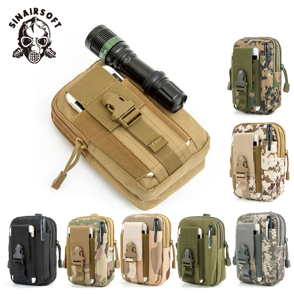 Tactical Molle Nylon Pouch Belt Waist Pack Bag Travel Military Waist Fanny Pack Phone Pocket Money Sport Pouch