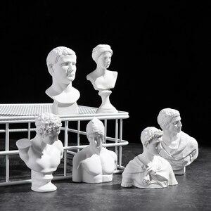 David Head Portraits Greek Mythology Figurine Mini Plaster Bust Statue Gypsum Drawing Practice Crafts Famous Sculpture Nordic