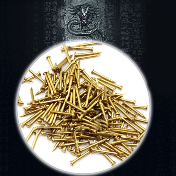 New 200 Pcs Miniature Nails Round Head Nails For Small Hinges Doll Houses Delicate Boxes Mini Craft Projects