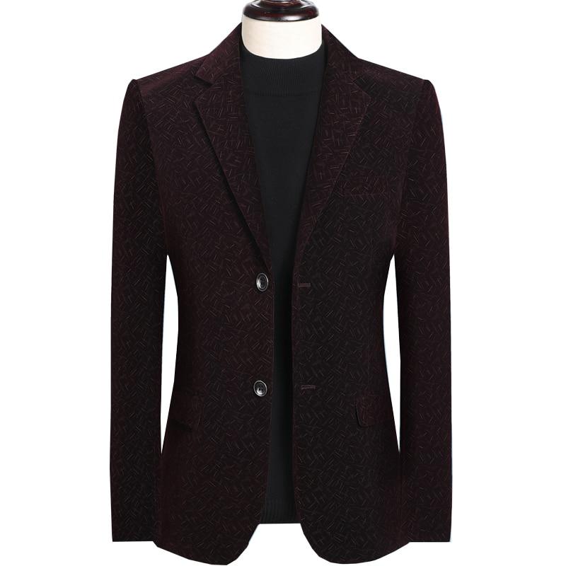 Fashion Dot Printed Men Stripe Suit Blazer Jacket Plus Size 5xl Single Breasted Slim Fit Blazers Men