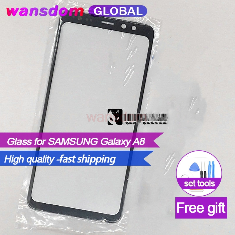 Replacement Front Glass for <font><b>SAMSUNG</b></font> Galaxy A8 2018 A530 <font><b>A530F</b></font> A530DS A8 Plus A730 A730F A730DS Display Outer Glass Lens image