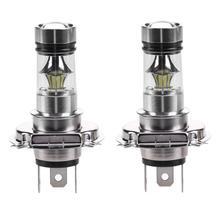 VODOOL 2pcs H4 LED Headlight 33SMD 2828 100W White Car Fog Light Driving Lamp Bulb Luminous Flux 900 LM Color Temperature