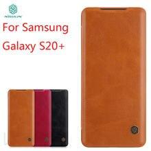 Чехол nillkin для samsung galaxy s20 + кожаный чехол бумажник