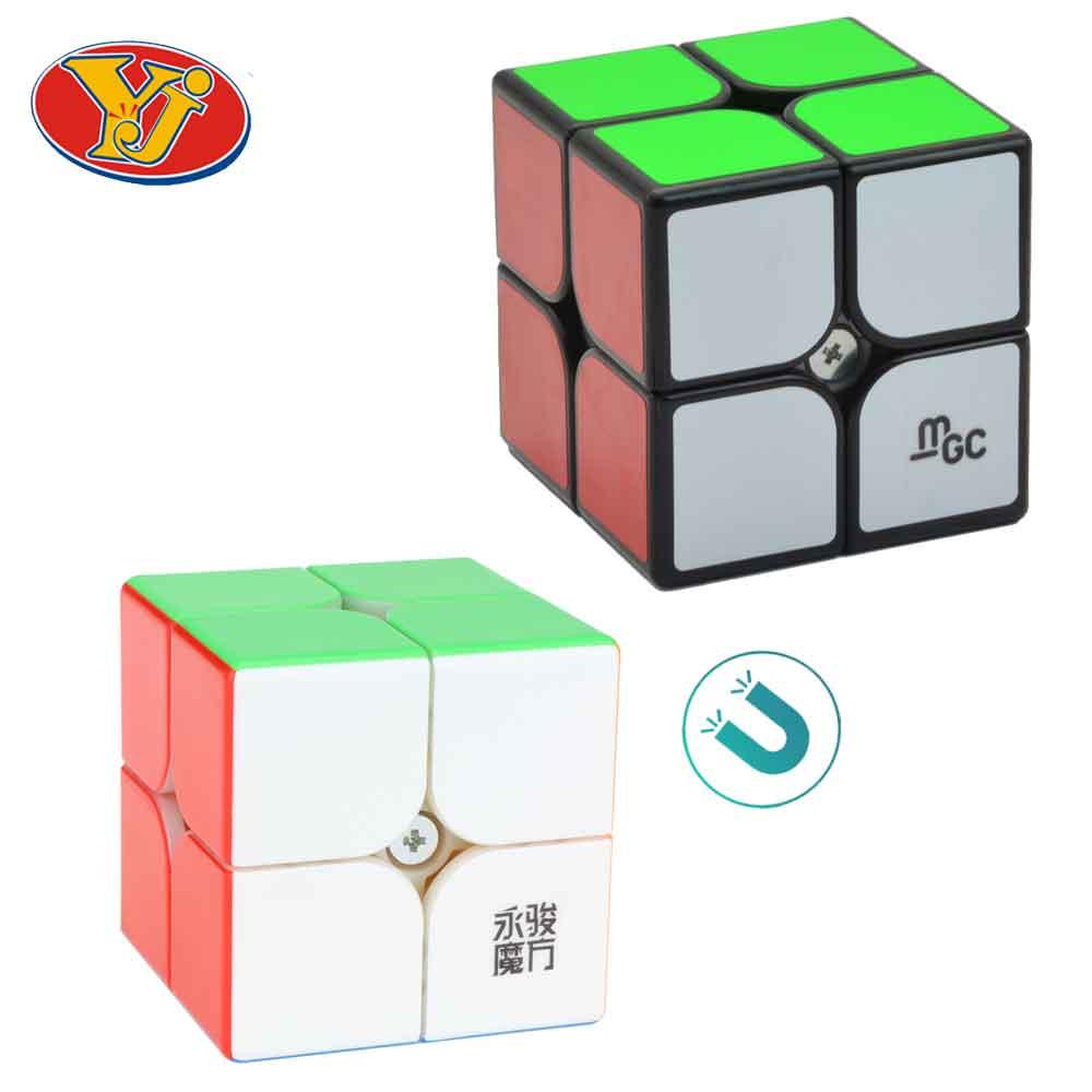 Professional YJ MGC2 YuPo M 2x2x2 Magnetic Cube 50mm YongJun Yupo 2x2 MGC Magnetic Cubo Magico Puzzle Educational Toys