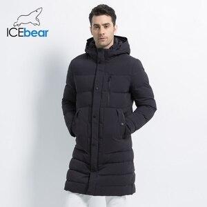Image 2 - ICEbear 2019 новая зимняя куртка ветрозащитная мужская хлопковая модная мужская парка повседневные мужские пальто Высокое качество Мужское пальто MWD18826I