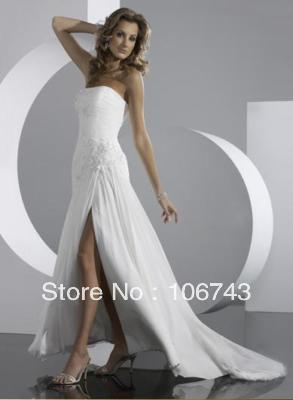 Free Shipping 2016 New Style Hign Quality White Sexy Bride Wedding Sweet Princess Custom Size Small Tail   Homecoming Dress