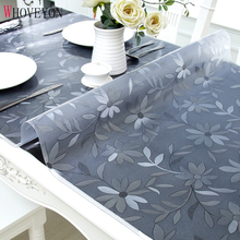 Tablecloth Transparent Glass Kitchen-Pattern Waterproof PVC with WHOVEYON