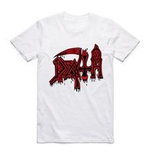 Asian Size Men And man Print DEATH Rock Heavy Metal Band  Fashion T-shirt Short sleeve O-Neck Polyester Tshirt HCP4016