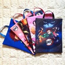 Anime Demon Slayer Kimetsu No Yaiba A4 File Holder Bag Portable Storage Bag