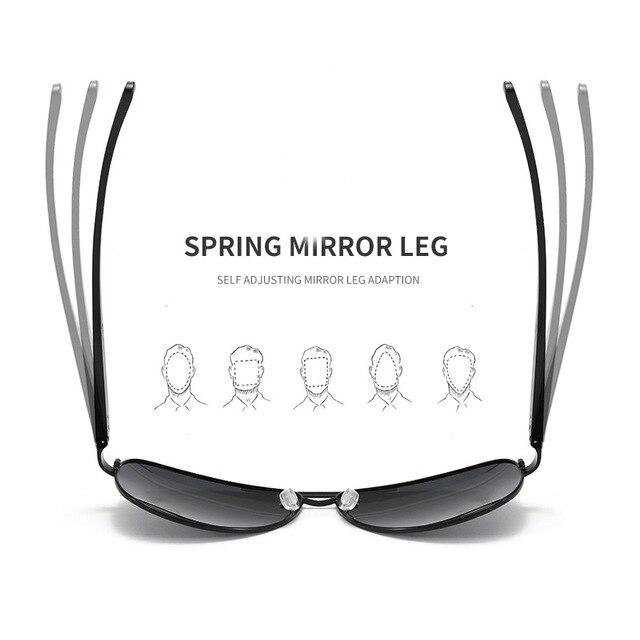 Gafas de sol de aluminio y magnesio para hombre, lentes de conducción de espejo, con revestimiento polarizado, accesorios, novedad de 2020 5