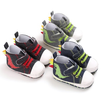 Canvas Classic Boy Shoes Dinosaur Newborn Baby Boys Shoes First Walkers Infant Toddler Soft Sole Anti-slip Baby Shoes 1