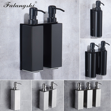 Falangshi High Quality Black Soap Dispenser Bathroom Accessories Stainless Steel 304 Wall Mounted Liquid Soap Organize WB8600
