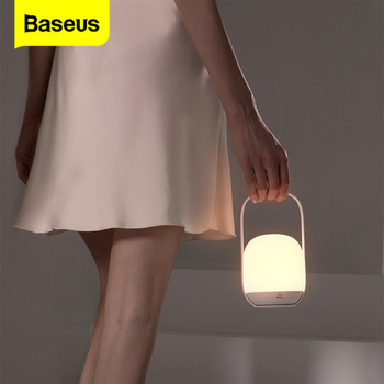 Baseus Bedroom Table Lamp Bedside Lamp Touch Stepless Dimming LED Lights for Room Rechargeable Night Lights Home Outdoor Light baby bedside rgb lights lamp smart night lights xiaomi yeelight indoor desktable lamp touch control bluetooth for phone