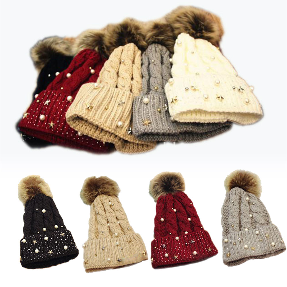 Ephex Comfortable Cotton Keep Warm Beanie Hat Soft 5 Colors Female Crochet Knitted Hat Fashion Knitting Outdoor Sports