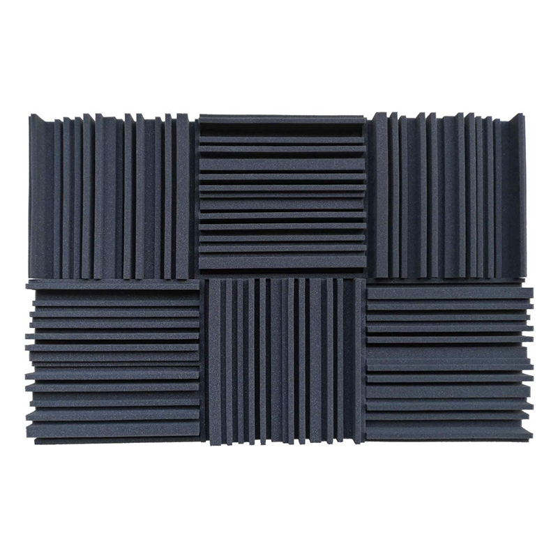 6 Pcs Acoustic Studio Absorption Foam Panel Broadband Sound Absorber Periodic Groove Structure