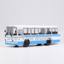 1:43 Escala de aleación de juguete Rusia LAZ-69N modelo de autobús de juguete para niños Original autorizado juguetes para niños auténticos