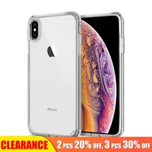 [Clearance] For iPhone XS MAX Case Transparent Anti-Knock Soft TPU Shockproof Protective Cover XR Cases Luxury Clear