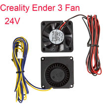 Ventilador refrigerador 40x40x10mm 24v, 2 peças creality original 4010 ventilador de refrigeração dc e 24v círculo ventilador para peças da impressora 3d ender 3/ender 3 pro