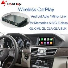 цена на Wireless CarPlay for Mercedes Benz A Class W176 B W246 CLA GLA C-CLass W204 E-Class W212 C207 CLS W218 ML GL GLK SLK R72 G W463