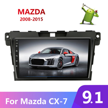 Android 9.1 Car Radio For Mazda CX-7 CX7 CX 7 2008-2013 2014 2015 Auto Stereo Multimedia Audio Video Player GPS Navi USB BT Wifi image