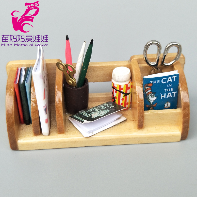 Doll House DIY Decoration Accessories Mini Stationery On Desk Tool For 1/6 BJD Ob11 Blythe Barbie Doll Furniture Accessories