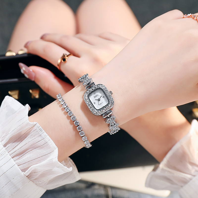 Novo relógio quadrado relógio feminino diamante relógio