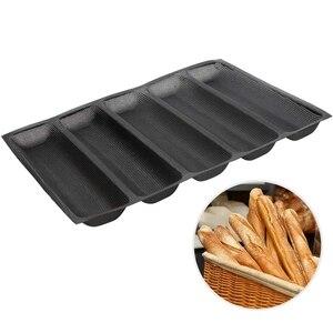 Силиконовый Лоток для багета-антипригарная перфорированная сковорода для хлеба форма для горячей собаки Форма для выпечки коврик-вкладыш ...