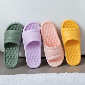 Domowe kapcie letnie podłogi antypoślizgowe kapcie podłogowe kryty rodzina jednokolorowe płaskie klapki łazienkowe kąpiel sandał kobiet tanie i dobre opinie TECHOME podstawowe CN (pochodzenie) Płaskie z Niska (1 cm-3 cm) Neutral Dobrze pasuje do rozmiaru wybierz swój normalny rozmiar
