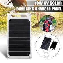 CLAITE 5V 10W DIY פנל סולארי Slim אור USB סוללה מטען נייד כוח בנק Pad אוניברסלי ערכת מלא טלפון תאורת רכב