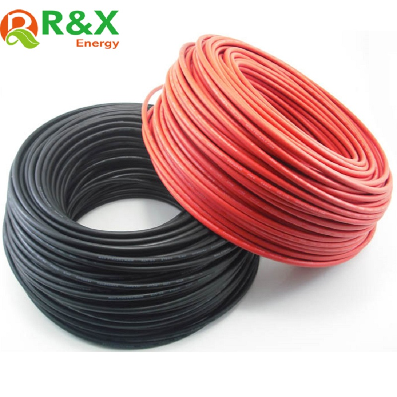 50M roll 1x2 5mm2 Solar Cable 14AWG Copper Cable TUV Approval Red Black Colour Optional For