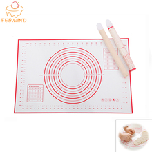 Pastry-Mat Dough Rolling Silicone Bakeware Kneading Non-Slip 079 Flour-Pad High-Temperature-Resistant