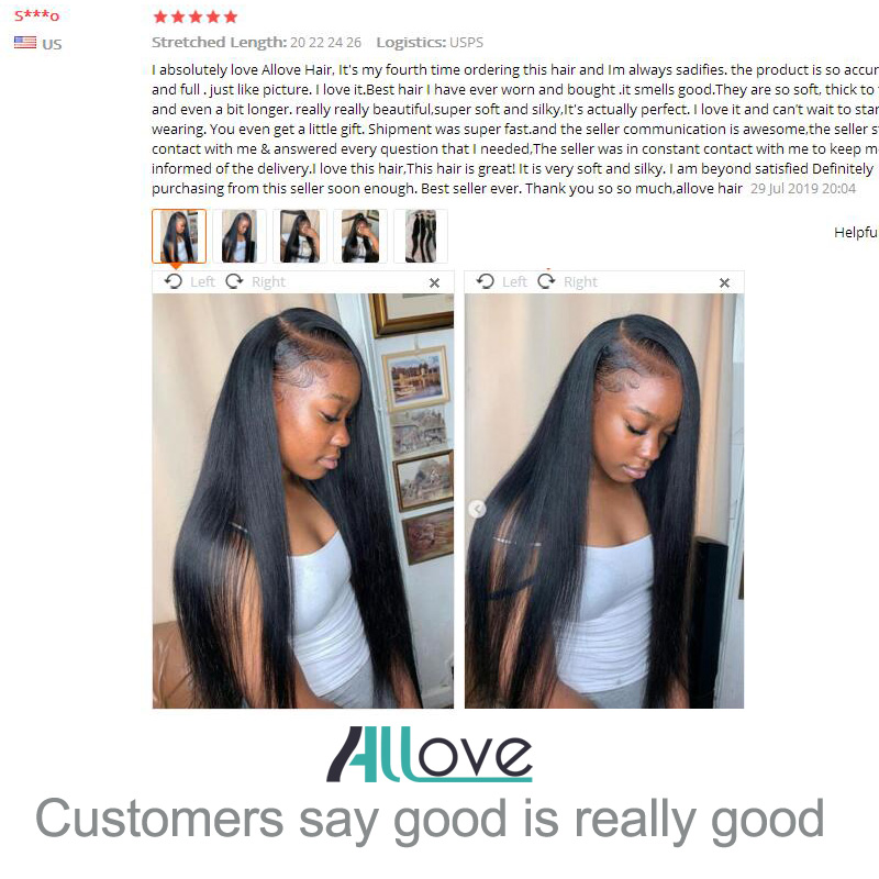 Image 5 - Allove Brazilian Straight Hair Bundles With Fontal Closure 100% Human Hair Weave Bundles with Frontal Wig Bundles with Frontal-in 3/4 Bundles with Closure from Hair Extensions & Wigs