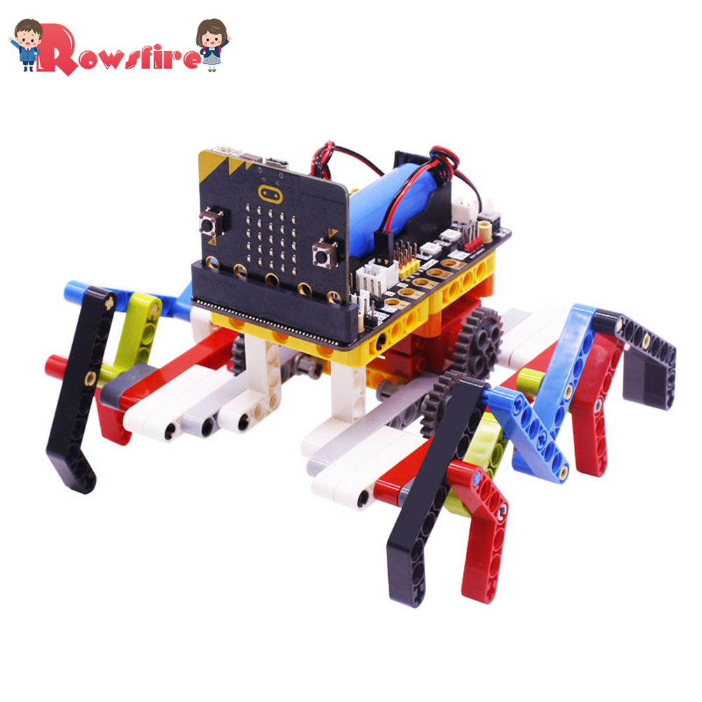 Program Intelligent Robot Kit Steam Programming Education Building Block Spider For Micro:Bit(No Or Including Micro:Bit Board)