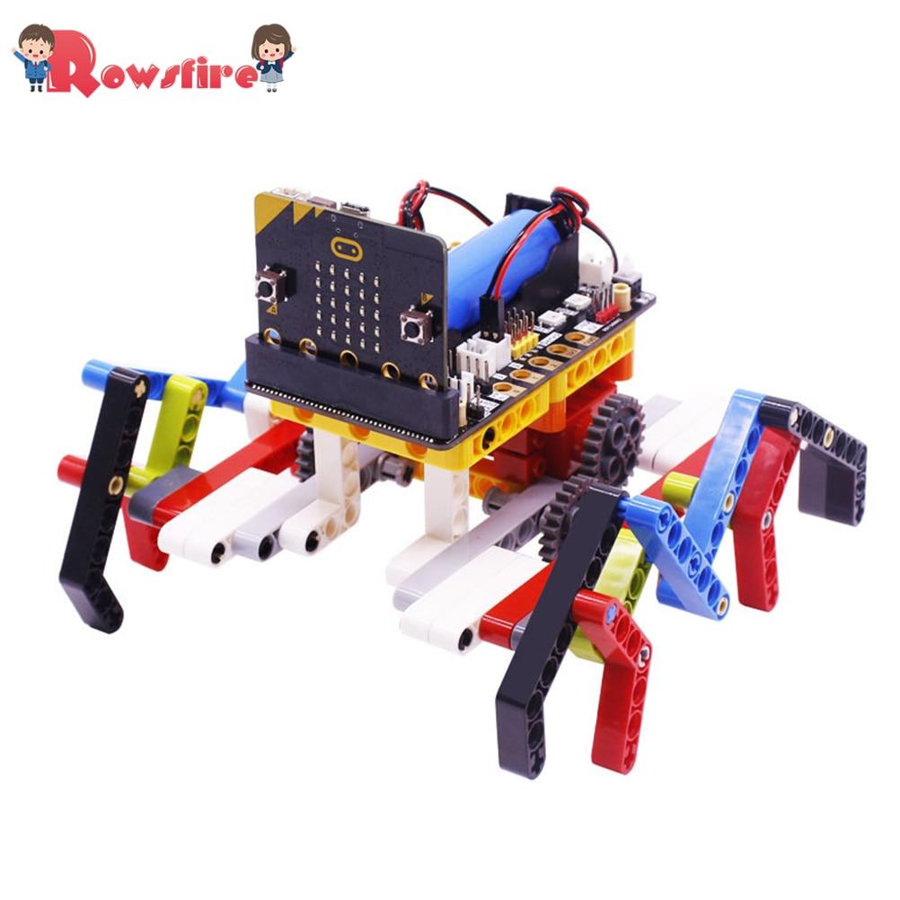 Program Intelligent Robot Kit Steam Programming Education Building Block Spider For Micro:Bit(No Or Including Micro:Bit Board)