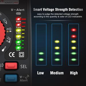 Image 2 - BSIDE Модернизированный Цифровой мультиметр цветной ЖК цифровой мультиметр 6000 отсчетов TRMS авто диапазон напряжения Ампер Ом Гц колпачок темп диод