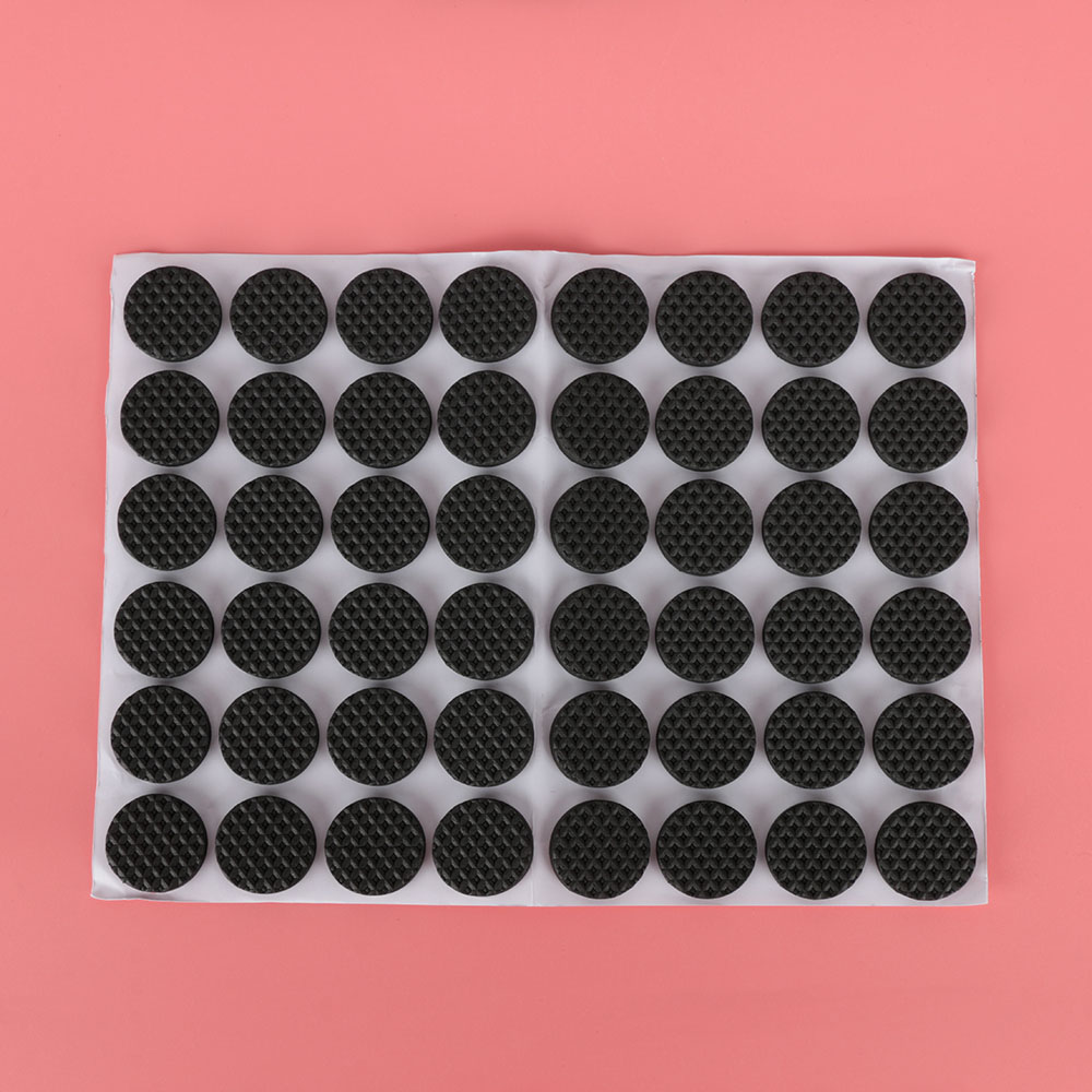 48Pcs Floor Protectors Mat Non-slip Self Adhesive Furniture Rubber Feet Pads Table Chair Round Sticky Pad For Sofa Chair
