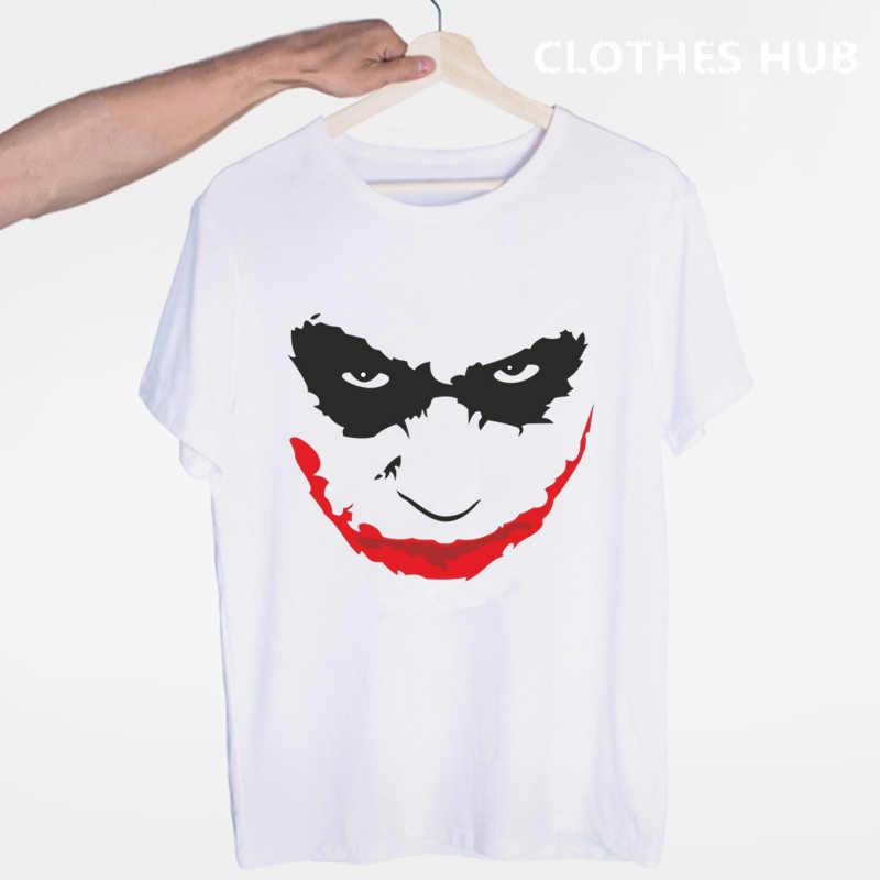 Футболка «Джокер Бэтмен» с круглым вырезом и короткими рукавами; Летняя Повседневная модная футболка унисекс для мужчин и женщин