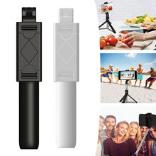 K07 3 in 1 Wireless Bluetooth Selfie Stick Foldable Mini Tripod Expandable Monopod with Remote Control for iPhone IOS Android