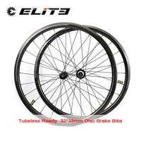 Elite 700c Disc Bremse Carbon Rennrad Rad Tubeless Ready 32*35mm Carbon Road Rim RD01 Hub Und säule 1423 Speichen 3k/6k/12k/UD