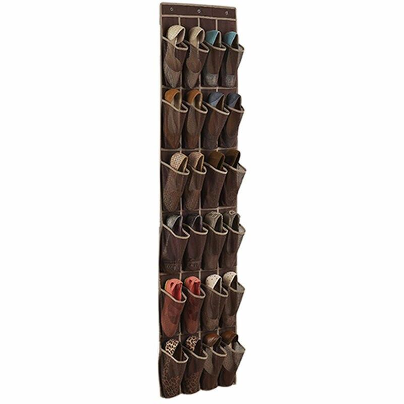 24 Pocket Shoe Space Door Hanging Organizer Rack Wall Bag Storage Closet Holder Storage Organizer