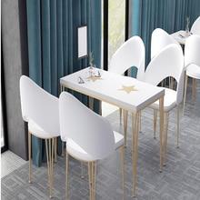 Table Narrow Iron Chair-Combination Bar-Bar-Bar Tea-Shop And High-Bar Nordic Simple Home