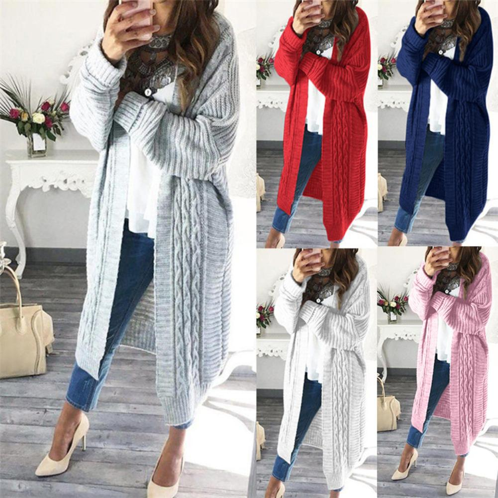 Women Long Cardigans Autumn Winter Stitch Poncho Knitted Sweater Female Large Size Shawl Cape Jacket Coat Trench Parkas