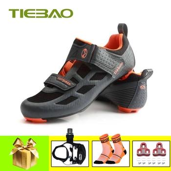 Tiebao-Zapatillas de ciclismo para hombre, triatlón de carretera, transpirables, 2019, superestrella, zapatillas para equitación